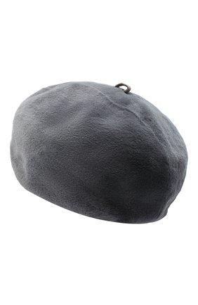 Женский берет из меха норки KUSSENKOVV серого цвета, арт. 10110008023 | Фото 2