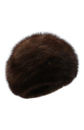 Женский берет из меха соболя KUSSENKOVV коричневого цвета, арт. 13550003008 | Фото 1
