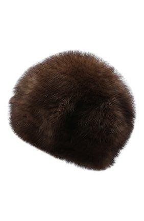 Женский берет из меха соболя KUSSENKOVV коричневого цвета, арт. 13550003008 | Фото 2