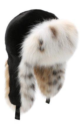 Женский норковая шапка-ушанка KUSSENKOVV разноцветного цвета, арт. 92806054097 | Фото 1
