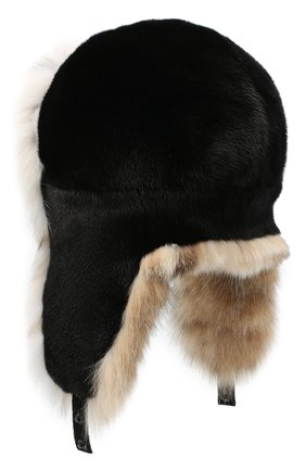 Женский норковая шапка-ушанка KUSSENKOVV разноцветного цвета, арт. 92806054097 | Фото 2