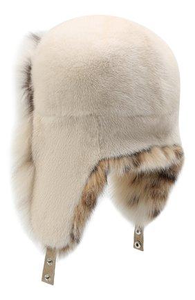Женский норковая шапка-ушанка KUSSENKOVV разноцветного цвета, арт. 91206052097 | Фото 2