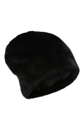 Женская меховая шапка KUSSENKOVV черного цвета, арт. 62800002170   Фото 1
