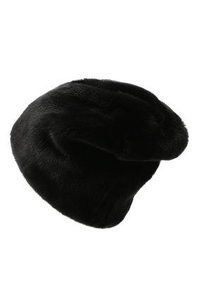 Женская меховая шапка KUSSENKOVV черного цвета, арт. 62800002170   Фото 2