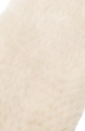 Женский меховой шарф KUSSENKOVV кремвого цвета, арт. 502050024534 | Фото 2 (Материал: Натуральный мех)