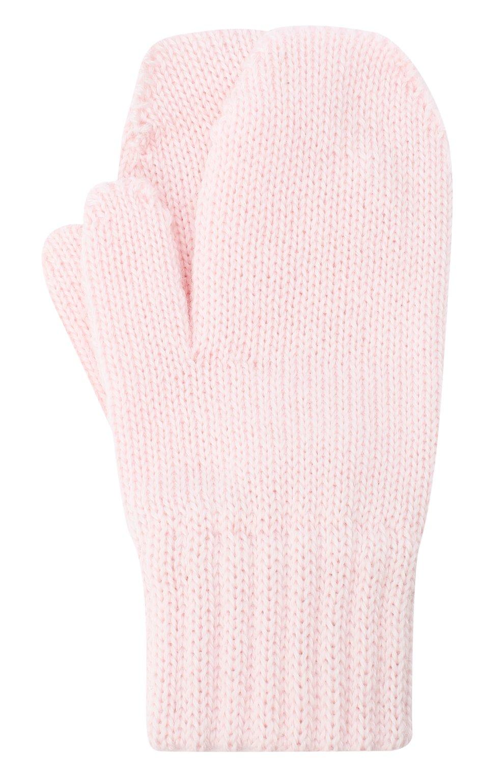 Детские шерстяные варежки CATYA розового цвета, арт. 024528 | Фото 1