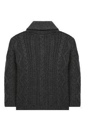 Детский хлопковый кардиган TARTINE ET CHOCOLAT темно-серого цвета, арт. TR18171/1M-1A | Фото 2 (Материал внешний: Хлопок; Рукава: Длинные; Ростовка одежда: 12 мес | 80 см, 9 мес | 74 см)