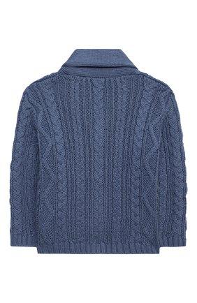 Детский хлопковый кардиган TARTINE ET CHOCOLAT синего цвета, арт. TR18171/1M-1A | Фото 2 (Материал внешний: Хлопок; Рукава: Длинные; Ростовка одежда: 12 мес | 80 см, 9 мес | 74 см)
