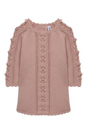 Женский платье TARTINE ET CHOCOLAT розового цвета, арт. TR30151/1M-1A | Фото 1 (Рукава: Длинные; Материал внешний: Хлопок; Ростовка одежда: 12 мес | 80 см, 6 мес | 68 см, 9 мес | 74 см)