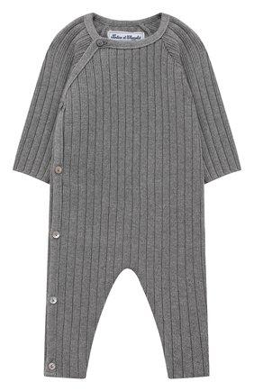 Детский хлопковый комбинезон TARTINE ET CHOCOLAT серого цвета, арт. TR32081/1M-1A | Фото 1