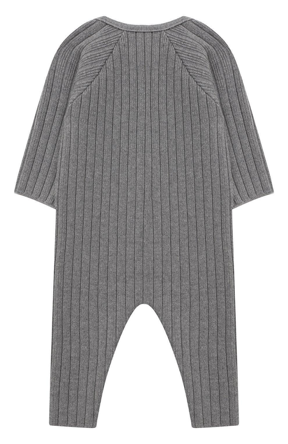 Детский хлопковый комбинезон TARTINE ET CHOCOLAT серого цвета, арт. TR32081/1M-1A   Фото 2