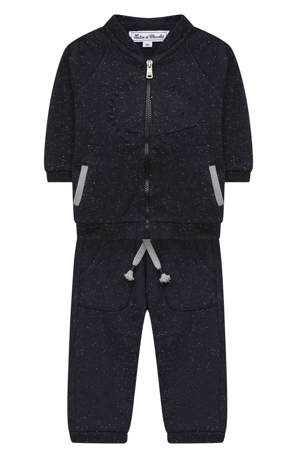 Детский комплект из толстовки и брюк TARTINE ET CHOCOLAT темно-синего цвета, арт. TR35001/1M-1A | Фото 1