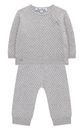 Детский комплект из пуловера и брюк TARTINE ET CHOCOLAT серого цвета, арт. TR36011/1M-1A | Фото 1