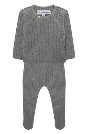 Детский комплект из пуловера и ползунков TARTINE ET CHOCOLAT серого цвета, арт. TR36071/1M-1A | Фото 1