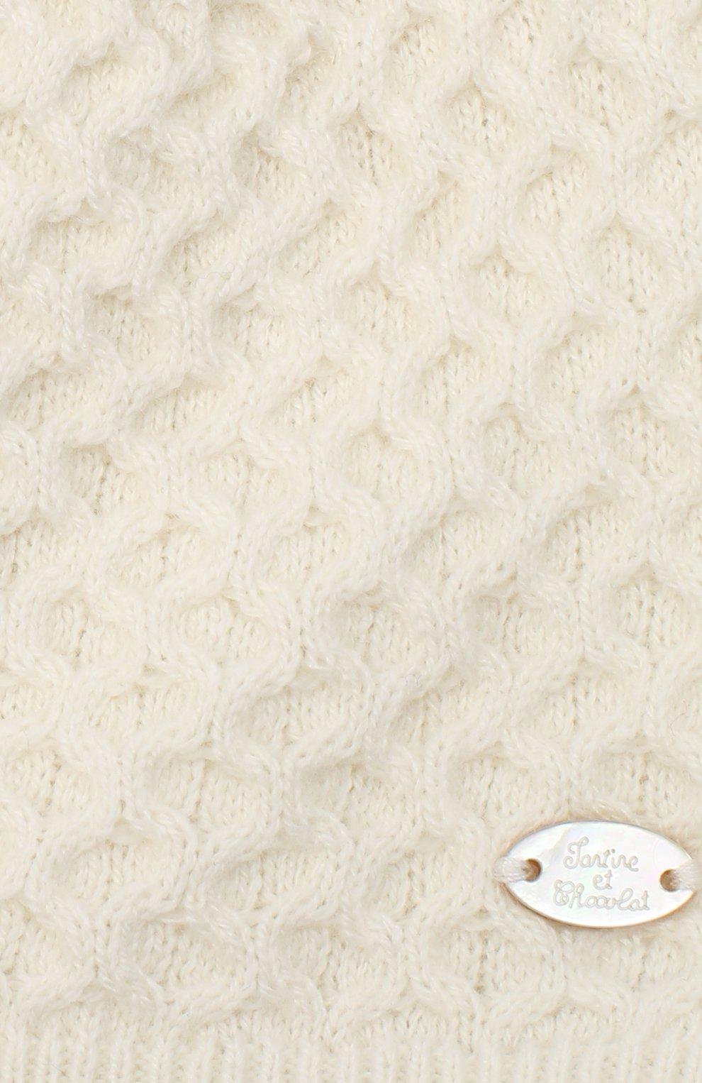 Детского шапка из хлопка и кашемира TARTINE ET CHOCOLAT бежевого цвета, арт. TR90001 | Фото 3