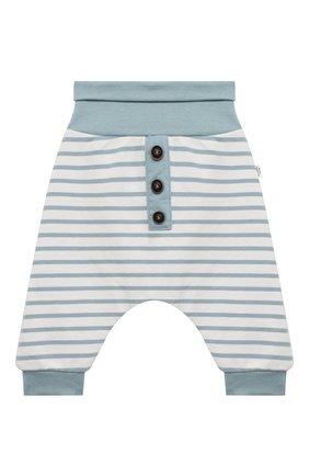 Детские хлопковые брюки SANETTA белого цвета, арт. 10109 | Фото 1
