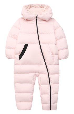 Детского пуховый комбинезон MONCLER светло-розового цвета, арт. F2-951-1G502-00-53333/18M-3A | Фото 1