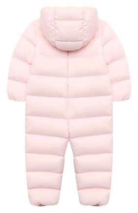 Детского пуховый комбинезон MONCLER светло-розового цвета, арт. F2-951-1G502-00-53333/18M-3A | Фото 2