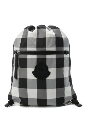 Детская рюкзак MONCLER черно-белого цвета, арт. F2-954-5A700-10-539YJ   Фото 1 (Материал: Текстиль)
