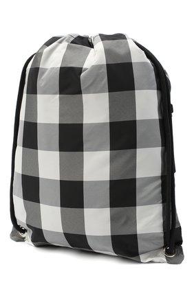 Детская рюкзак MONCLER черно-белого цвета, арт. F2-954-5A700-10-539YJ   Фото 2 (Материал: Текстиль)