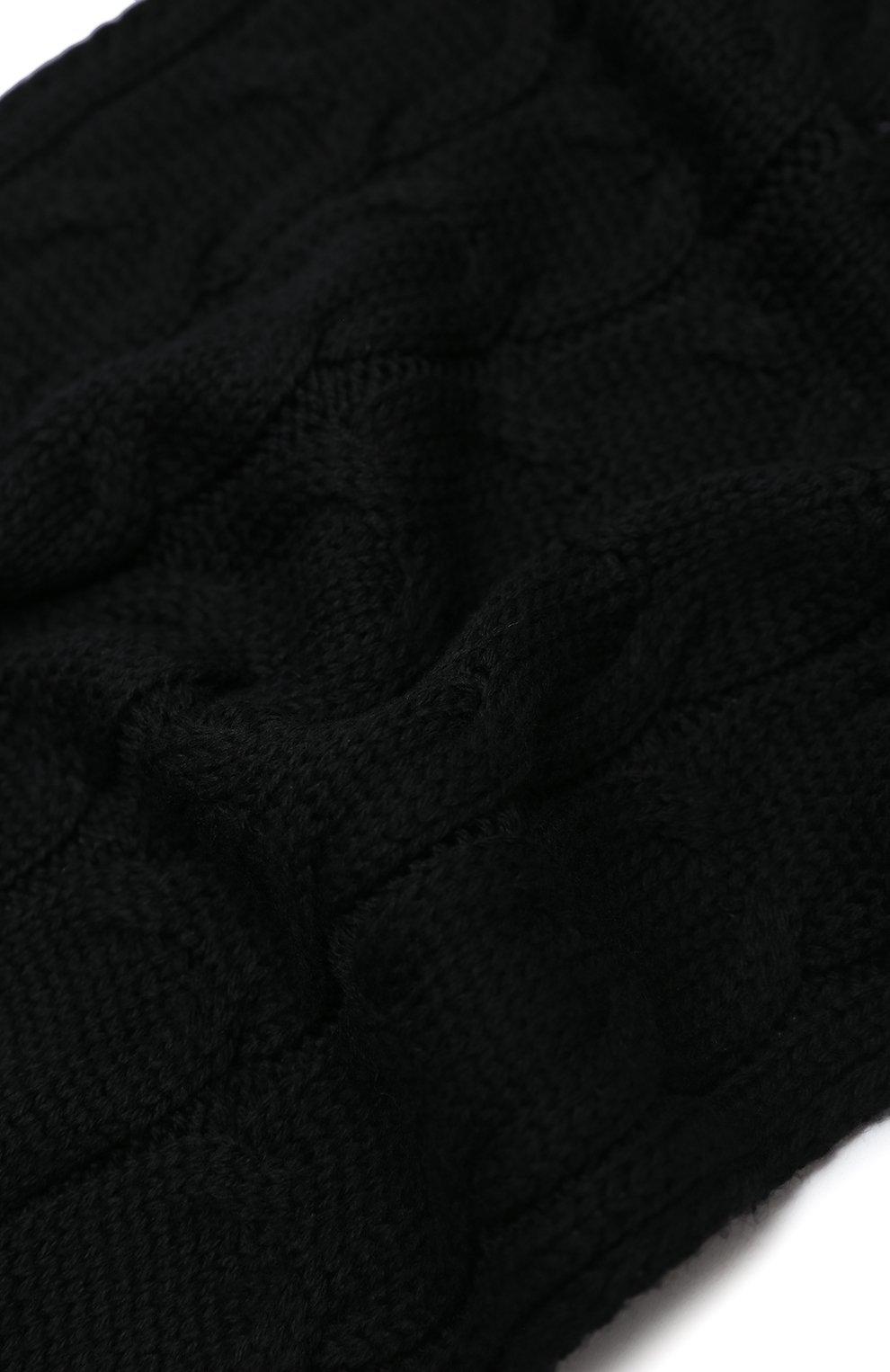 Детский шерстяной шарф MONCLER черного цвета, арт. F2-954-3C700-20-04S02 | Фото 2