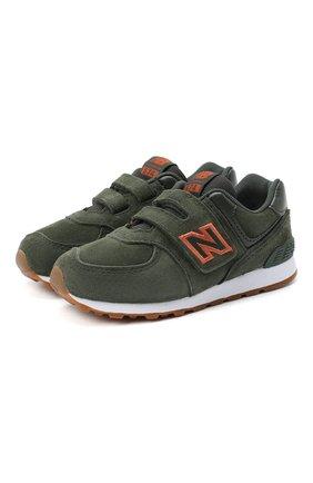 Детские кроссовки 574 NEW BALANCE темно-зеленого цвета, арт. IV574PGO/M   Фото 1