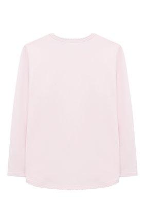 Детский хлопковый лонгслив SANETTA FIFTYSEVEN светло-розового цвета, арт. 906861 | Фото 2