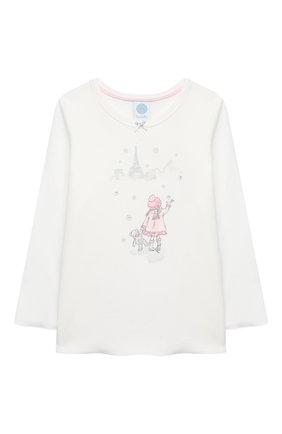 Детская хлопковая пижама SANETTA белого цвета, арт. 232487 | Фото 2