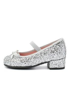 Детские туфли с перемычкой PRETTY BALLERINAS серебряного цвета, арт. 44.097/KYLIE   Фото 2