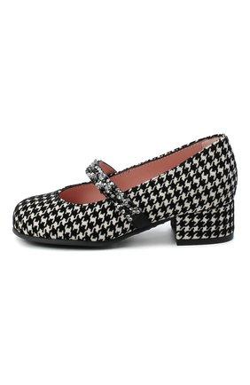 Детские замшевые туфли PRETTY BALLERINAS черно-белого цвета, арт. 48.788/LIBRARY | Фото 2