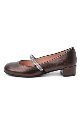 Детские кожаные туфли PRETTY BALLERINAS коричневого цвета, арт. 48.788-R/AMI | Фото 2