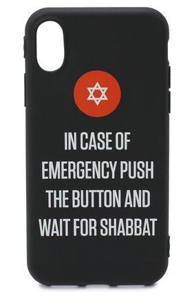 Мужской чехол для iphone x MISHRABOO черного цвета, арт. Push the button Shabbat X | Фото 1