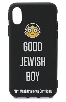Мужской чехол для iphone x MISHRABOO черного цвета, арт. GJB X | Фото 1