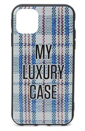 Мужской чехол для iphone 11 MISHRABOO черного цвета, арт. Luxury case blue 11 | Фото 1