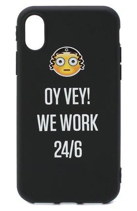 Мужской чехол для iphone x MISHRABOO черного цвета, арт. Oy vey X | Фото 1