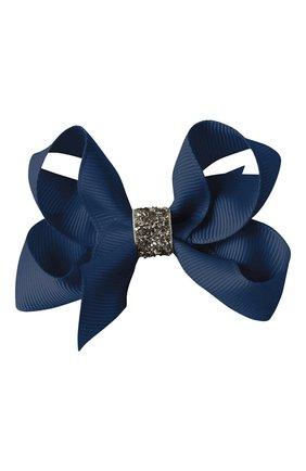 Детская заколка-зажим boutique bow MILLEDEUX темно-синего цвета, арт. 370-GC-02 | Фото 1