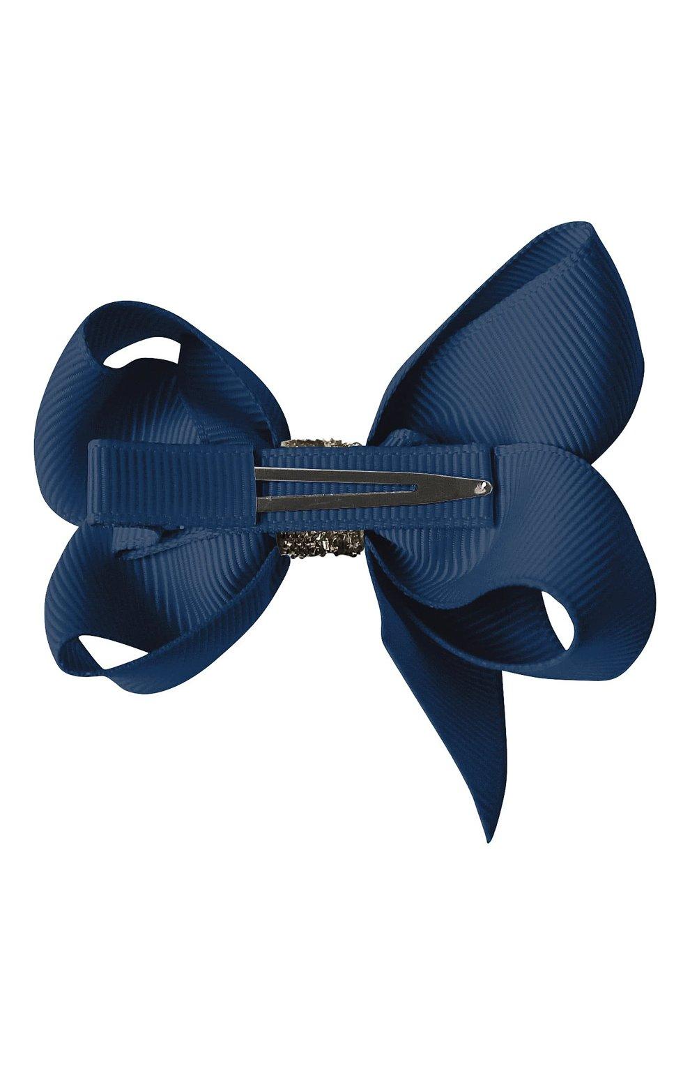 Детская заколка-зажим boutique bow MILLEDEUX темно-синего цвета, арт. 370-GC-02 | Фото 2