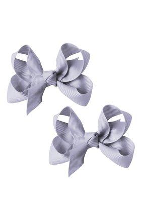 Детская комплект из двух заколок boutique bow MILLEDEUX голубого цвета, арт. 435-Pigtail- CGC-02 | Фото 1