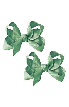 Детская комплект из двух заколок boutique bow MILLEDEUX светло-зеленого цвета, арт. 564-Pigtail- CGC-02 | Фото 1