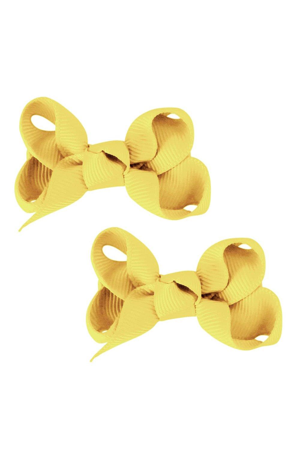 Детская комплект из двух заколок boutique bow MILLEDEUX желтого цвета, арт. 640-Pigtail- CGC-01 | Фото 1