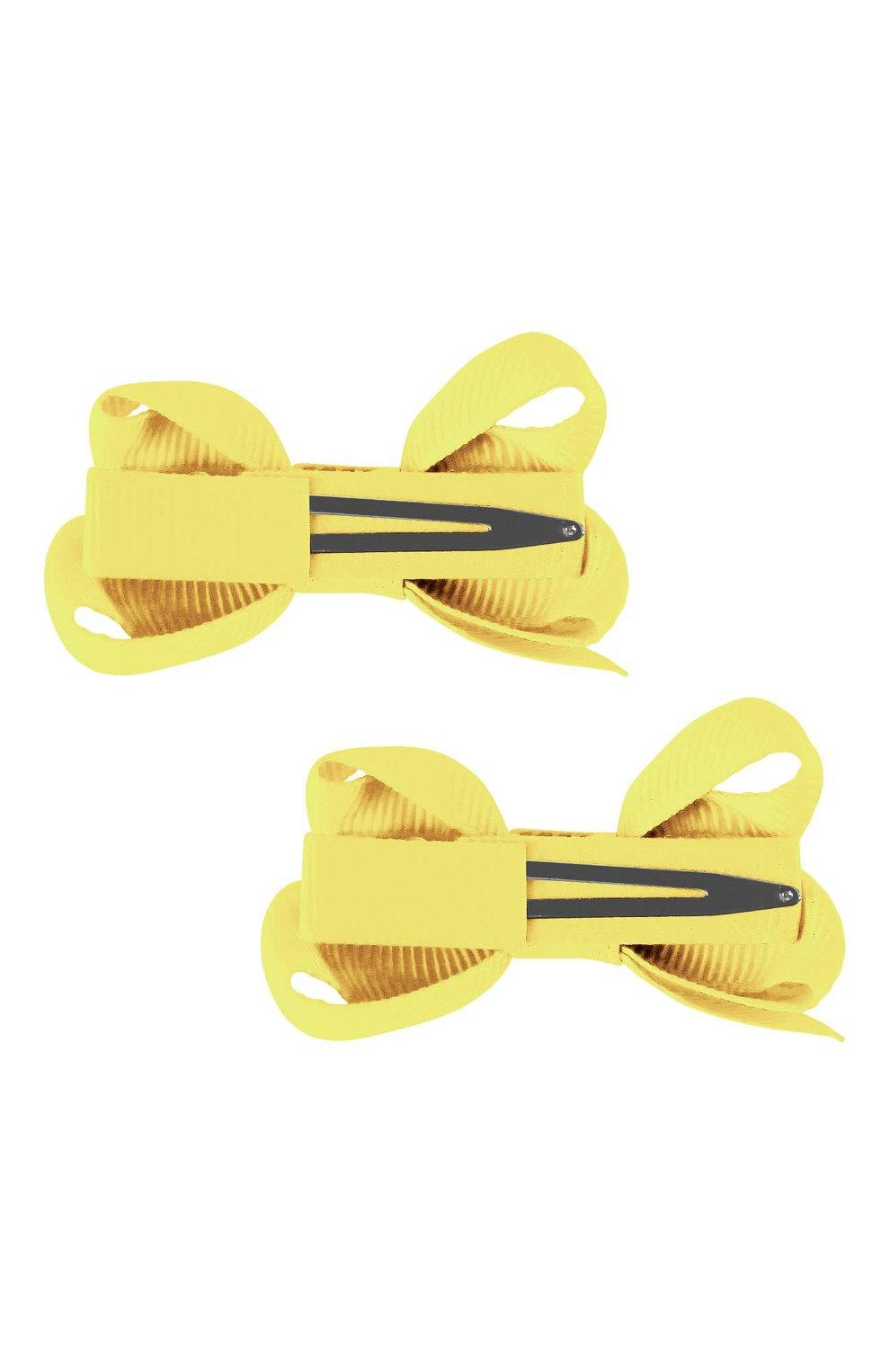Детская комплект из двух заколок boutique bow MILLEDEUX желтого цвета, арт. 640-Pigtail- CGC-01 | Фото 2