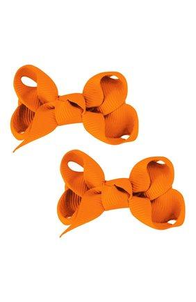 Детская комплект из двух заколок boutique bow MILLEDEUX оранжевого цвета, арт. 668-Pigtail- CGC-01 | Фото 1