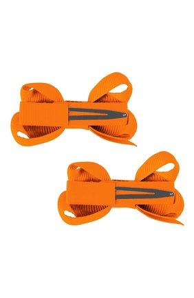 Детская комплект из двух заколок boutique bow MILLEDEUX оранжевого цвета, арт. 668-Pigtail- CGC-01 | Фото 2