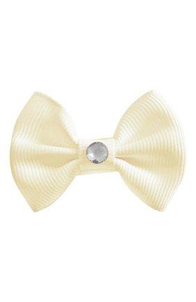 Детская заколка-зажим bowtie bow MILLEDEUX бежевого цвета, арт. 810-GLGC-01 | Фото 1