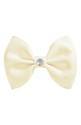 Детская заколка-зажим bowtie bow MILLEDEUX бежевого цвета, арт. 810-GLGC-02 | Фото 1