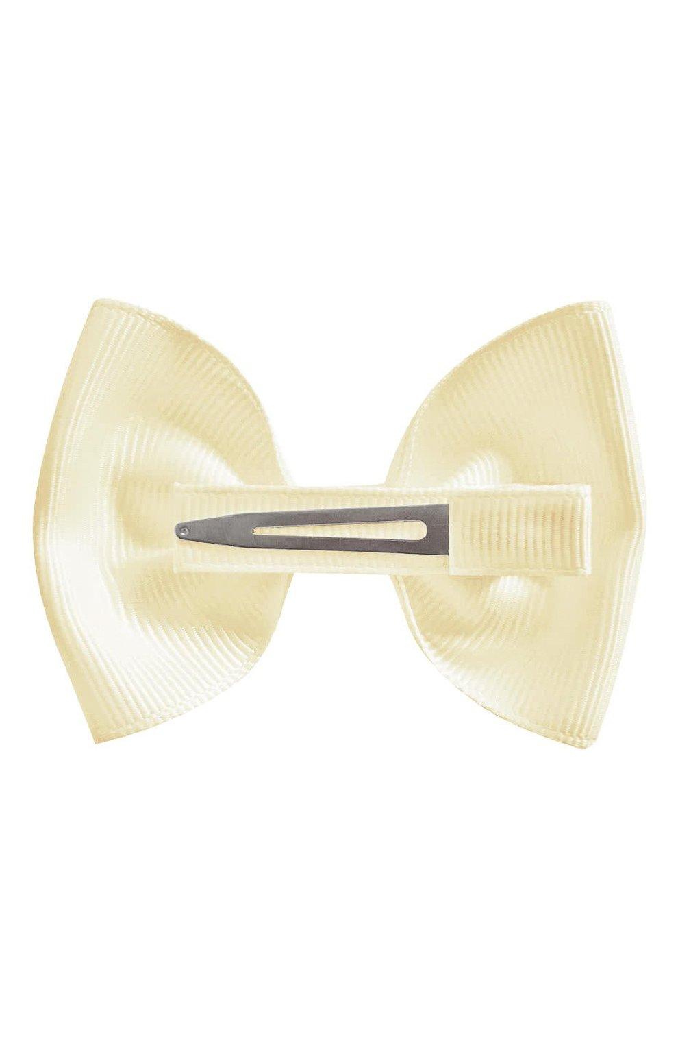 Детская заколка-зажим bowtie bow MILLEDEUX бежевого цвета, арт. 810-GLGC-02   Фото 2