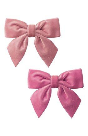 Детская комплект из двух заколок MILLEDEUX розового цвета, арт. A152 | Фото 1