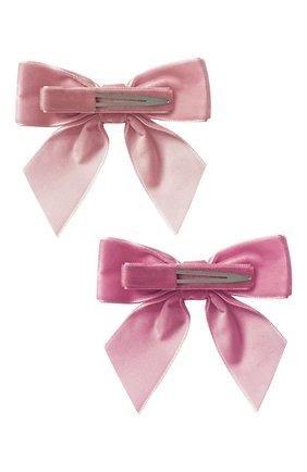 Детская комплект из двух заколок MILLEDEUX розового цвета, арт. A152 | Фото 2