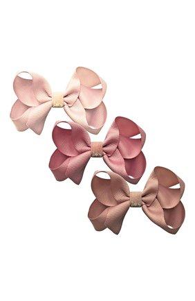 Детская комплект из трех заколок MILLEDEUX розового цвета, арт. A34 | Фото 1