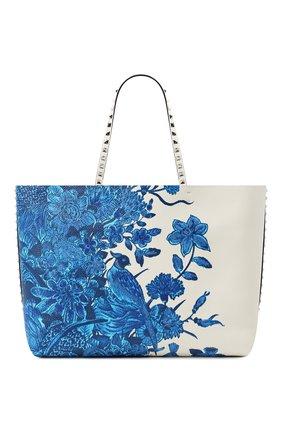 Женский сумка-шопер valentino garavani rockstud VALENTINO синего цвета, арт. UW2B0G98/NFN | Фото 1